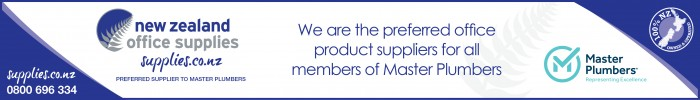 New Zealand Office Supplies are the preferred office product suppliers for all members of Master Plumbers