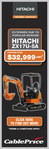 Extended due to popular demand - Hitachi ZX17U-5A from $32,999+GST*
