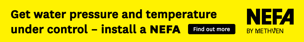 Get water pressure and temperature under control – install a Nefa