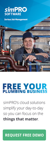 Free your plumbing business with simPRO Software – request free demo