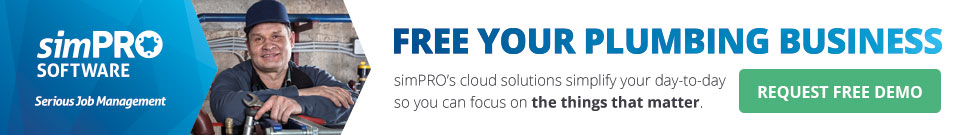 Free your plumbing business with simPRO Software - request free demo