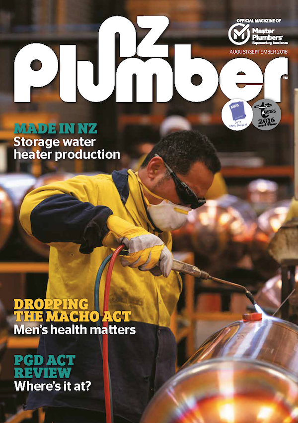 Cover from NZ Plumber Aug Sept18 Lo res