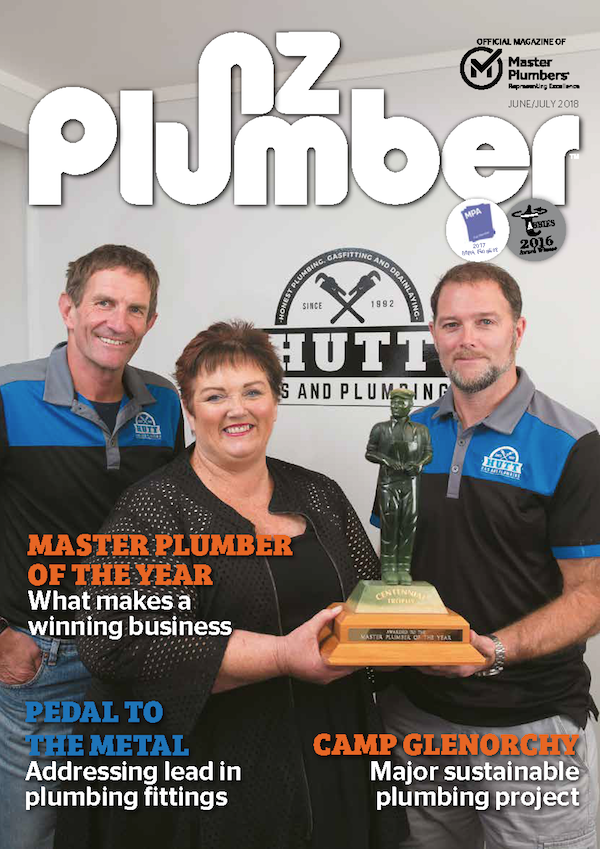 Cover from NZ Plumber June July18 lo res