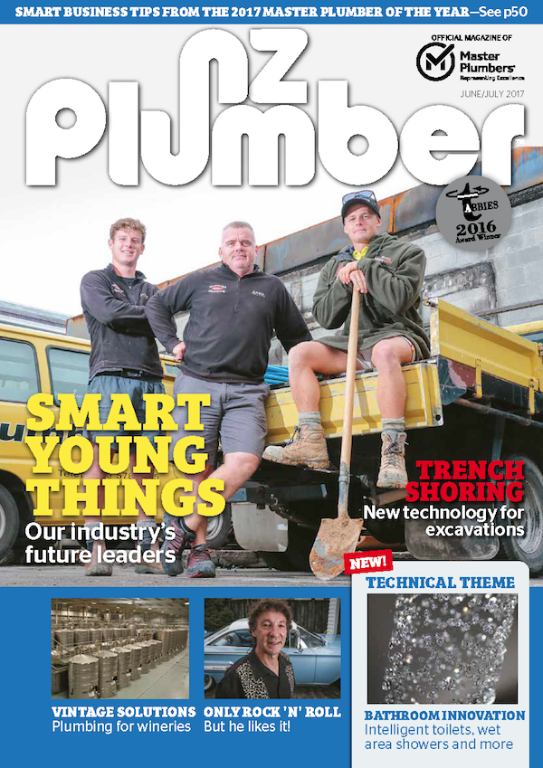 Cover from NZ Plumber JuneJuly17 lo res