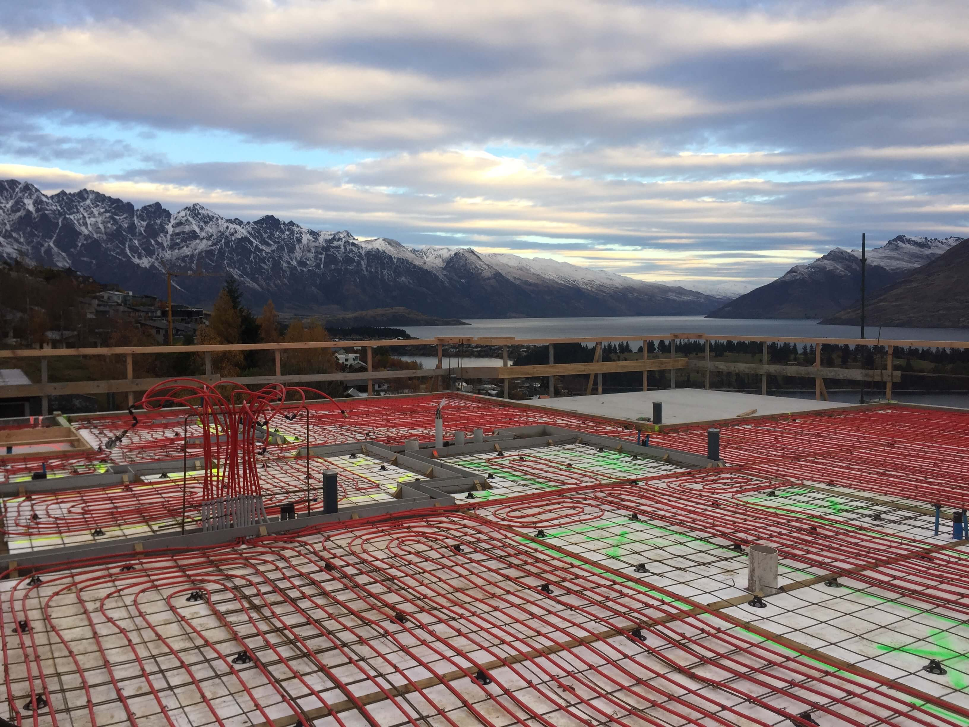 Queenstown underfloor central heating installation