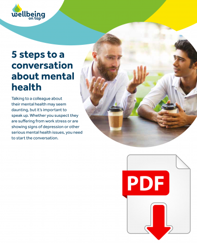 MP Wellbeing 5 steps to a conversation