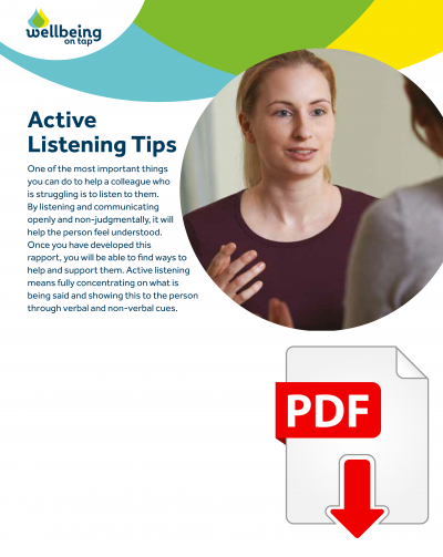 MP Wellbeing Active listening tips